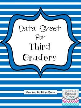 Data Sheet for 3rd grade
