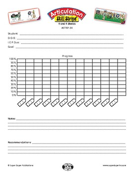 Data Sheet for Super Duper Articulation Skill Strips - R and R Blends