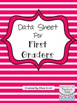 Data Sheet for First Grade