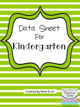 Data Sheet for Kindergarten