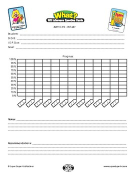 """Data Sheet for Super Duper WH Inference Question Cards - """"What"""""""