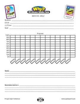 """Data Sheet for Super Duper WH Inference Question Cards - """"Why"""""""