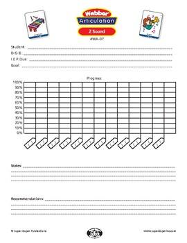Data Sheet for Super Duper Webber Articulation Cards - Z Sound