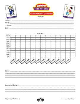 Data Sheet for Super Duper Phonology Cards - Cluster Reduction - Unmarked