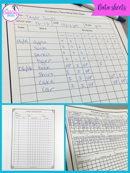 Data Collection Sheets For SLPs To Progress Monitor Goals