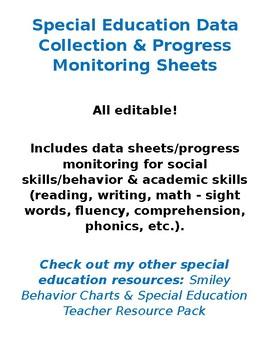 Data Sheets & Progress Monitoring