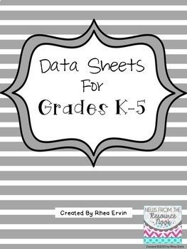 Data Sheets for K-5: BUNDLE