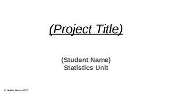 Data Statistic Project Editable Power Point