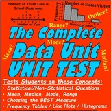 Data / Statistics Unit Test / Pre-Test - Mean, Median, Lin