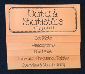 Data & Statistics in Algebra 1 (Foldable)