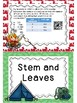 Data, Stem and Leaf, Dot Plot, Griddables, Financial Literacy Camp