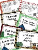 Data, Stem and Leaf, Dot Plot, Griddables, Financial Liter