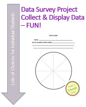Data Survey and Display Project - Fun While Learning!  Differentiated