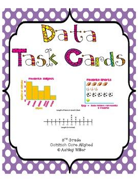 Data Task Cards Common Core Aligned