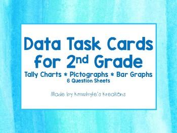 Data Task Cards for 2nd Grade