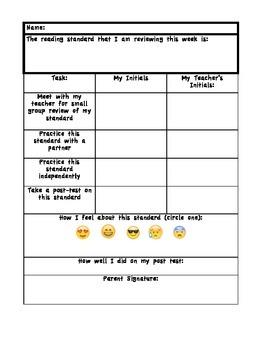 Reading Data Checklist with Emojis