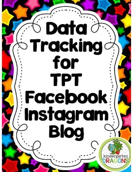 Data Tracker for TPT, Blog, Facebook, Instagram