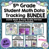 Student Data Tracking Set CCSS for 5th Grade Math (BUNDLE)