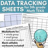 Data Tracking 5th Grade Math TEKS