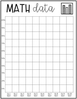 Data Tracking Binder for Students