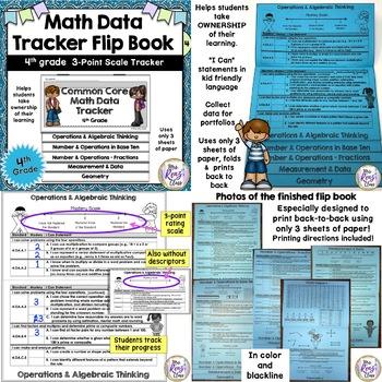 Data Tracking Set for 4th Grade (Bundle)  3 Pt Scale Math Data Tracking Set