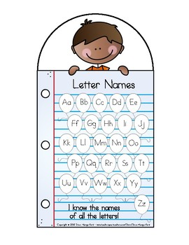 Data Tracking Cards for Students - Letter Names, Letter Sounds, Sight Words