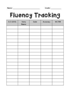Data Tracking - Fluency and Reading Level - FREEBIE