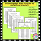 Data Tracking Graphs * 4th Grade Data Tracking Graphs