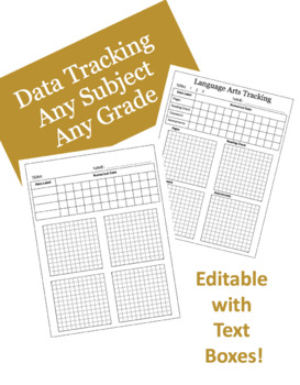 Data Tracking Interactive Notebook & Binder Insert // All Subjects and Grades