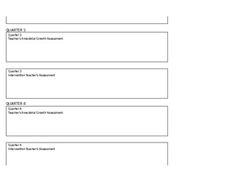 Data Tracking Sheet