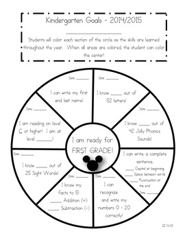 Data Tracking Sheet - Kindergarten