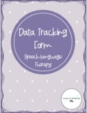 Data Tracking Sheet for Speech-Language Therapy IEP Goals and Objectives