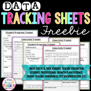 Data Tracking Sheets By Brandy Shoemaker Teachers Pay