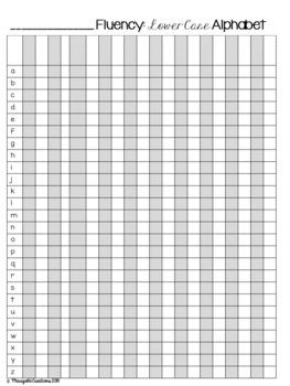 Data Tracking Sheets: Alphabet Fluency