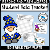 Editable Data Tracking Sheets Student Data Tracking Graph and Template