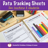 Data Tracking Sheets for Students & Teachers (Editable/Digital)