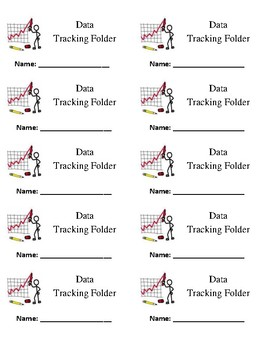 Data Tracking and Math Journal Labels