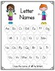 Data Tracking for Students - Letter Names, Letter Sounds, Sight Words
