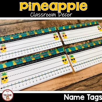 Pineapple Theme Classroom Decor Bundle