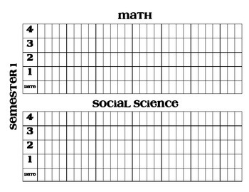 Data Wall and Notebook Sheets