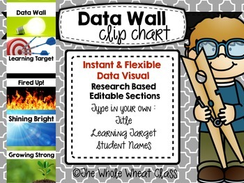 Data Wall Clip Chart-EDITABLE with Realistic Photos