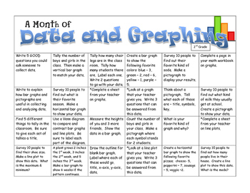 Data and Graphing Concepts:  A Month of Activities-- 2nd Grade CCSS