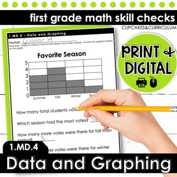 Data and Graphing   First Grade Math 1.MD.4