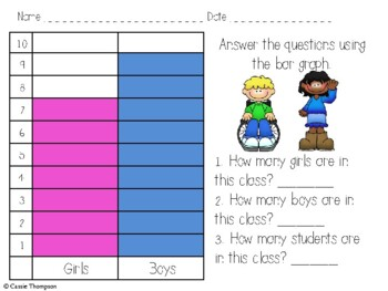 Data and Graphing Pack for First Grade