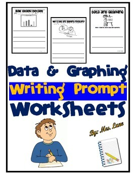 Data and Graphing Writing Prompt Worksheets