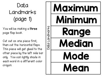 Data and Graphing (grades 4 & 5) ~ Math Interactive Notebook Activities