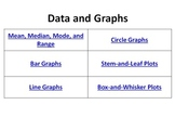 Data and Graphs Bell Ringers Bar Line Circle Stem-and-Leaf