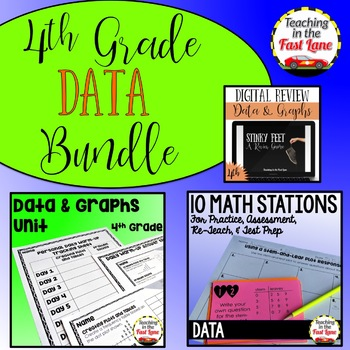 Data and Graphs Bundle 4th Grade