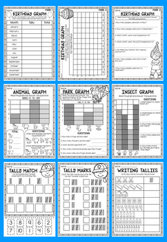 Data and Graphs Worksheet Pack - First Grade