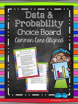 Data and Probability Choice Board (Common Core Aligned)